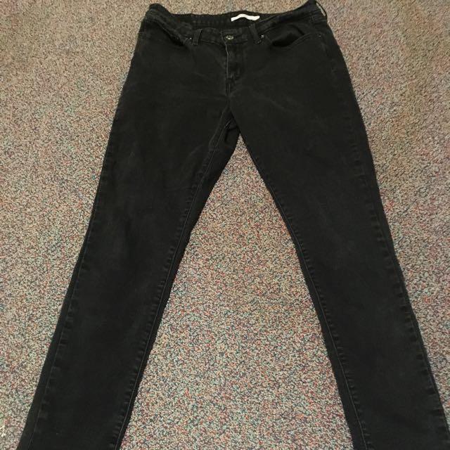 Black Levi's Skinny Jeans