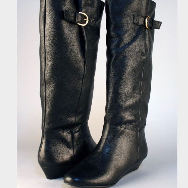 Black Steve Madden Intyce Boots