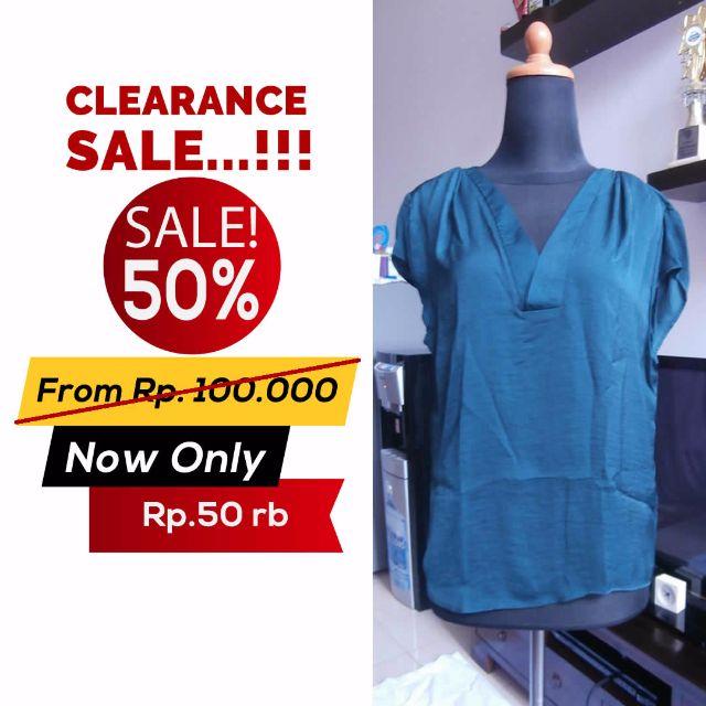 SALE 50% !!! Blouse H&M Green