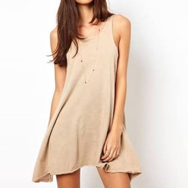 Camel Swing Dress Size 10