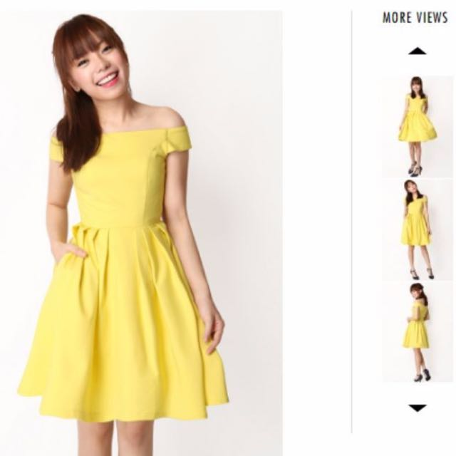 Canary Bright Yellow Sunshine A for Arcade Kristen Off-Shoulder Dress 70e83c9e4