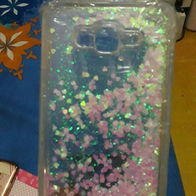 Case Glitter Samsung Galaxi J7 2015 Free Soft Case Gel (Jabodetabek Free Shiping)