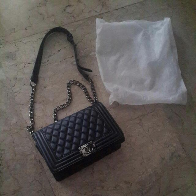 Chanel Boy Bag Leather  (Not Authentic)