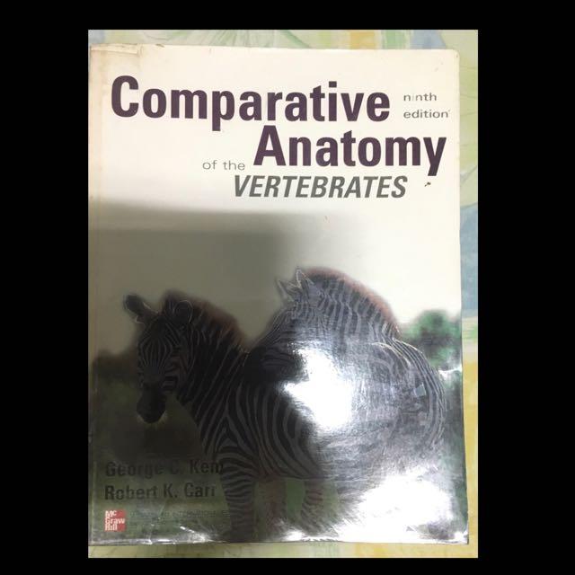 Comparative Anatomy Of The Vertebrates Textbooks On Carousell