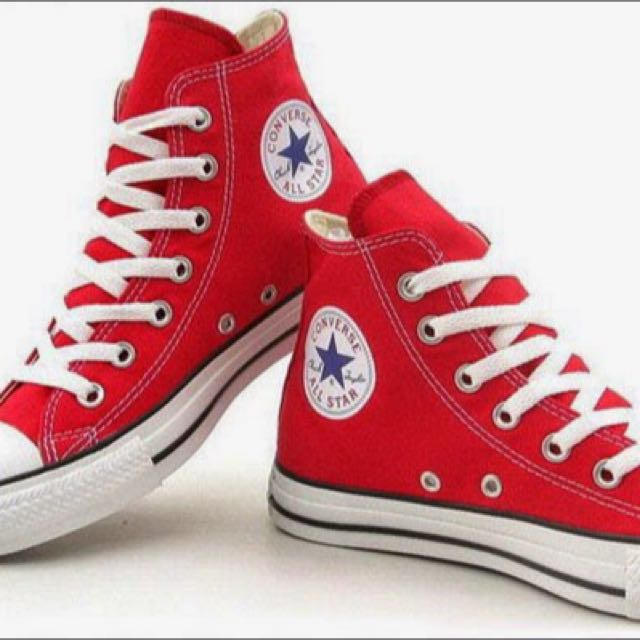Converse Red High Cut Sneakers, Women's