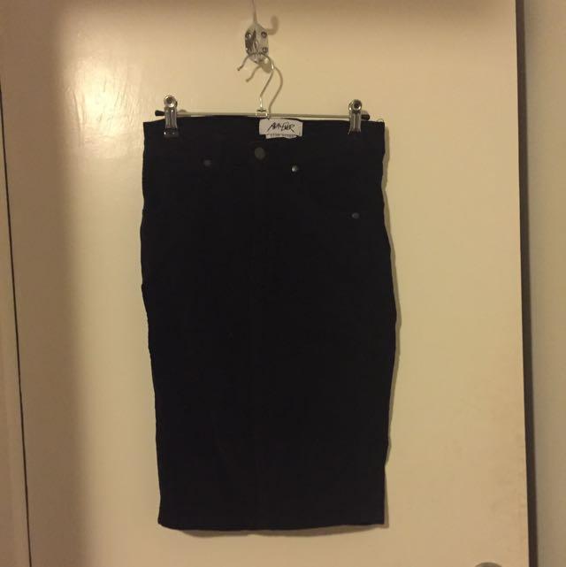 Corduroy Skirt Long Ava And Ever