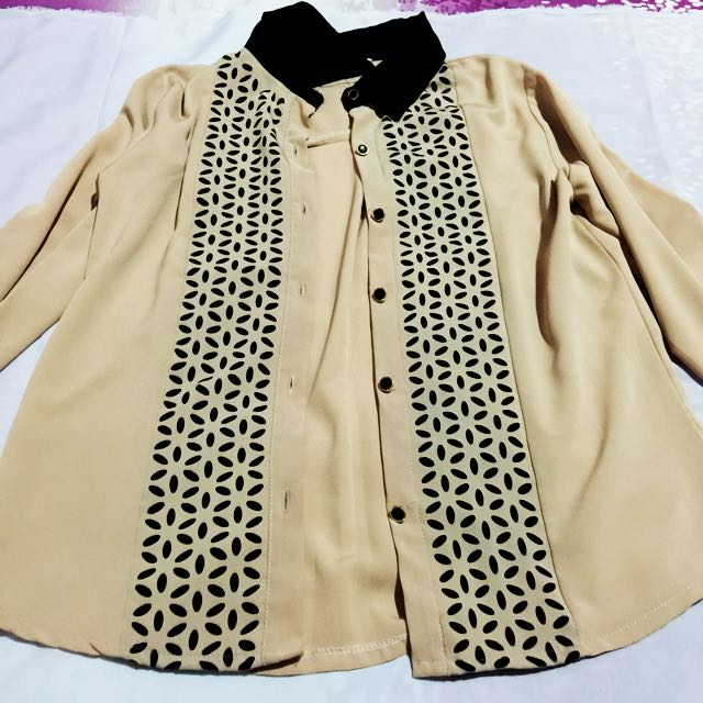 Cream Pattern Shirt