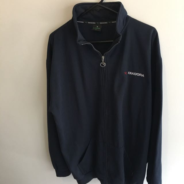 Diadora Navy Zip Up L