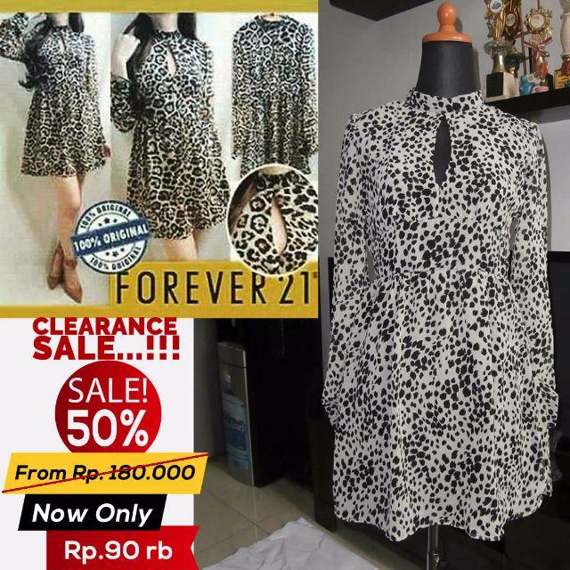SALE 50% !!! Dress F21 Leopard