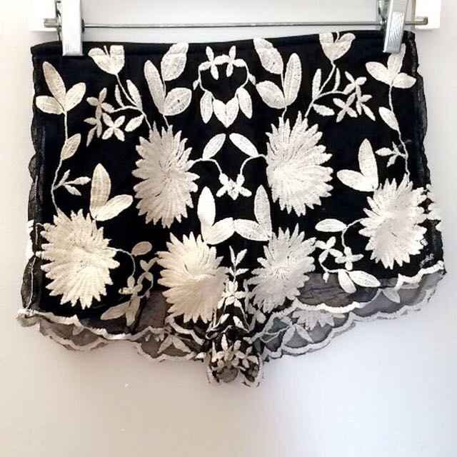 Floral Lace Booty ShortS