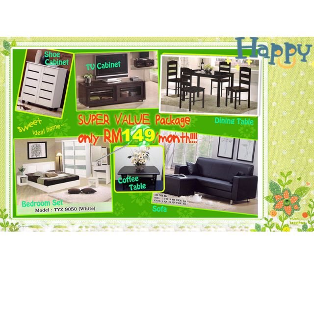 Full Set Home Furniture Package 7 In 1 Installment Plan Payment Per Month On Carou