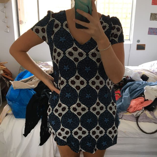 Glassons Mosaic Greek Tiles Style Dress