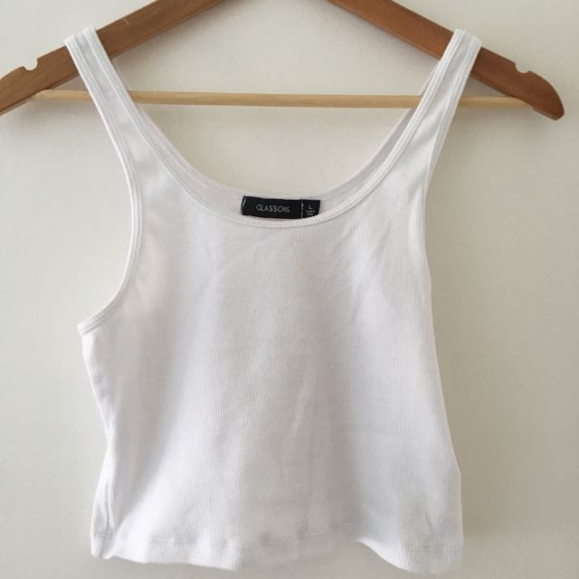 Glassons Rib Crop 90s Top