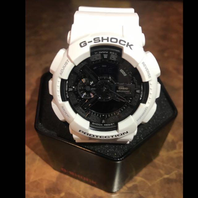 G-SHOCK GA-110GW-7ADR 白黑 9.9成新