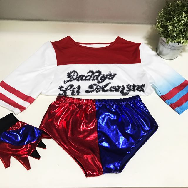 Harley Quinn Suicide Squad T Shirt Daddy's Little Monster cosplay