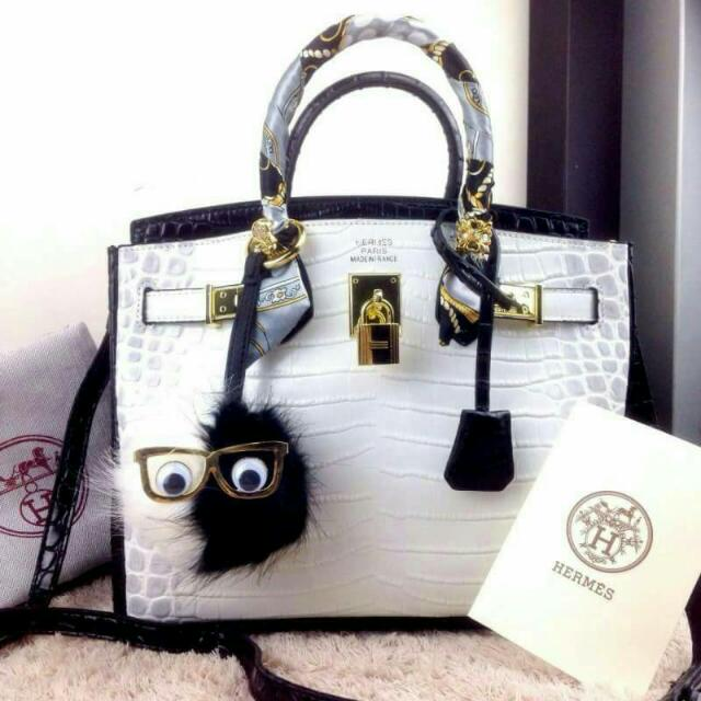 Hermes Birkin Crocodile Nilo Graphite ghw with Twins Charms