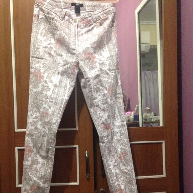 H&M Baroque Printed Pants