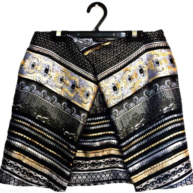 Kenzo Paris Temple Eye Brocade Skirt