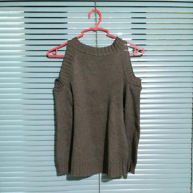 Knitted 3/4 Off Shoulder