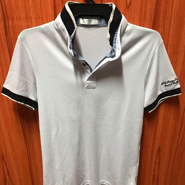 korean brand double collar polo shirt