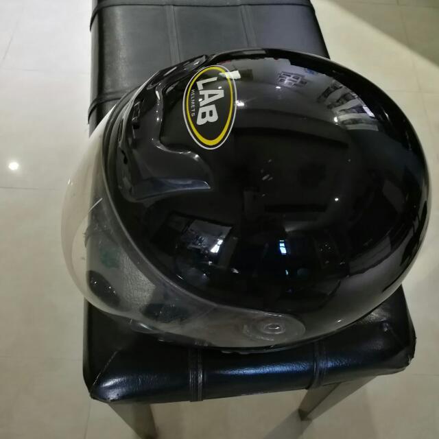 LAB Motorbike Helmet Lim Ah Boy Helmet Black, Car