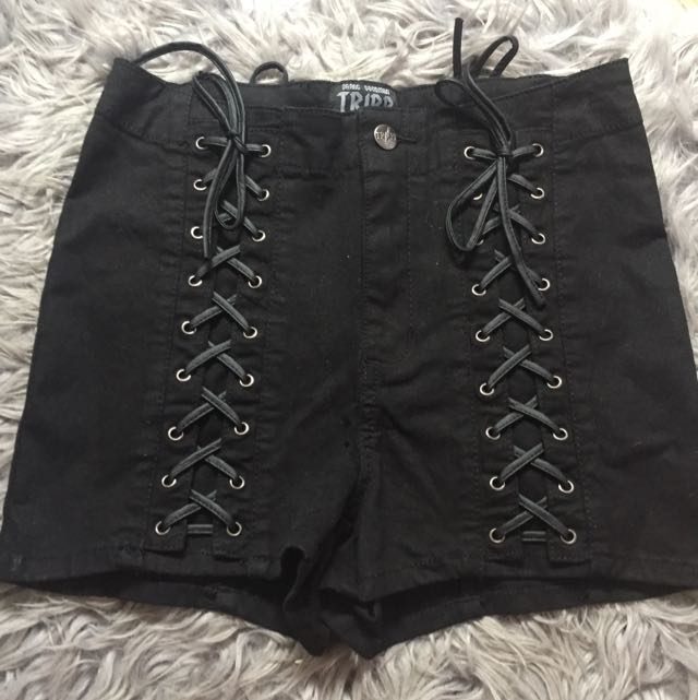 Lace Up Shorts ~