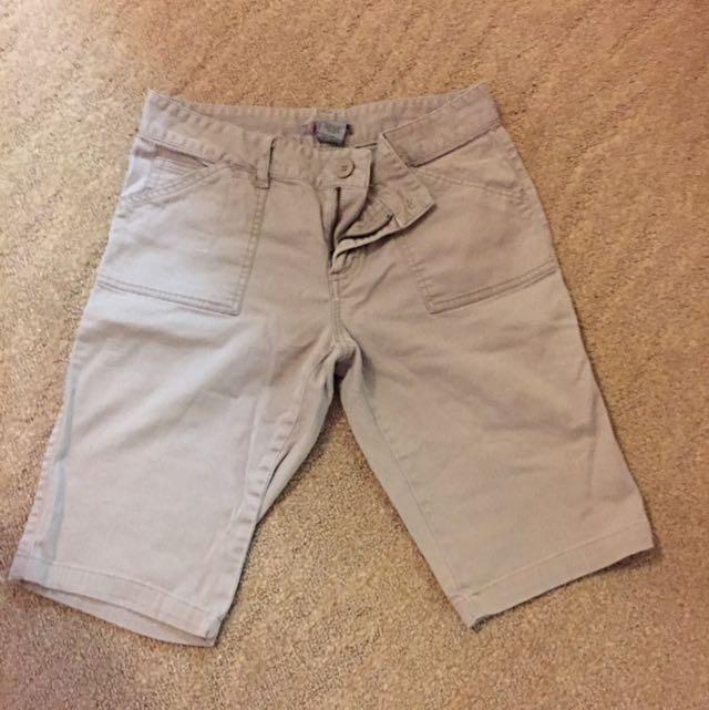 Light Brown Knee Length Shorts
