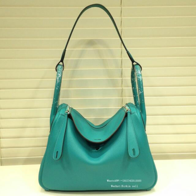 0c737b8a345d Lindy bag 30 7F Blue paon clemence leather silver hardware