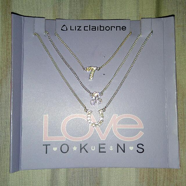 Liz Claiborne Love Tokens Lucky Charm Necklace