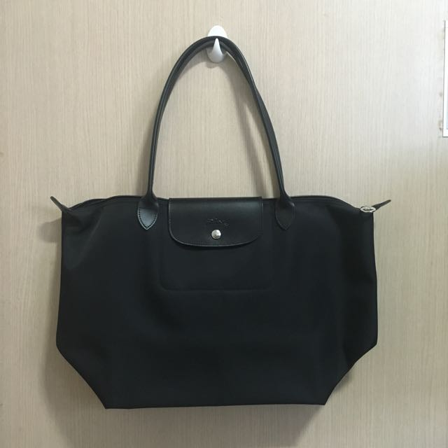 3a0fe267012 Longchamp Planetes Full Black Leather (large), Women's Fashion, Bags &  Wallets on Carousell
