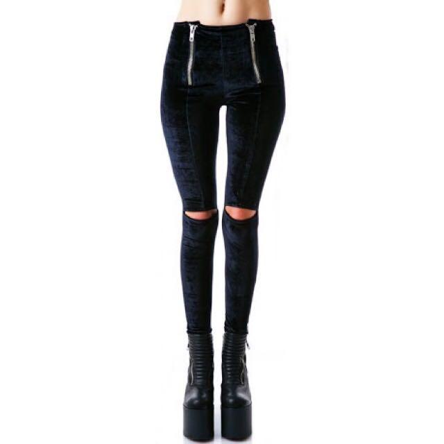 Looking For These Unif Ish Pants Leggings Black Velvet