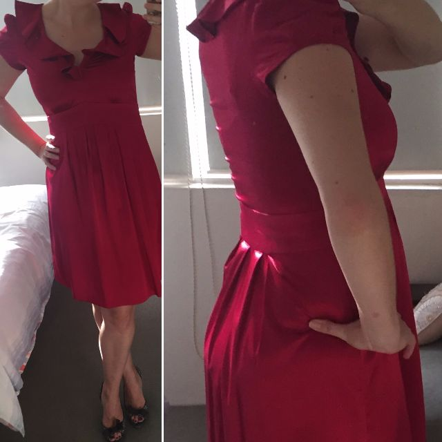 Magenta Silk Dress - AU12