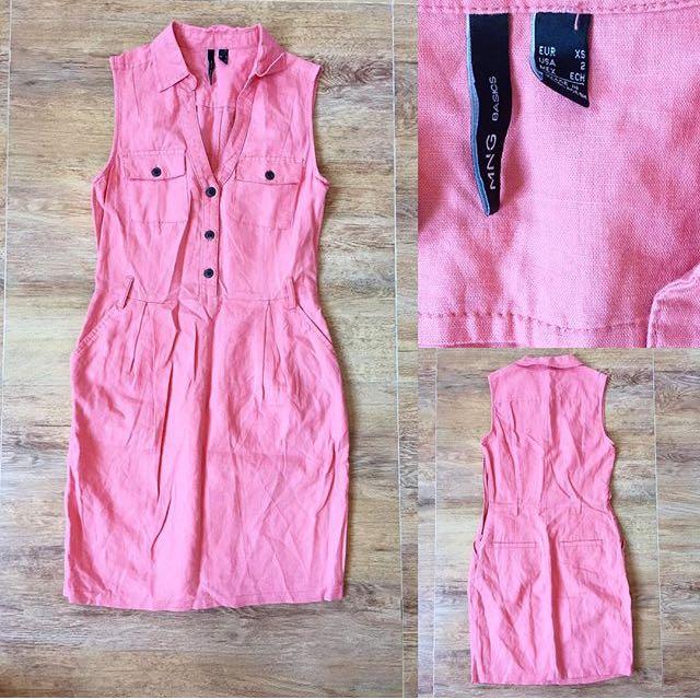MANGO Pink Dress
