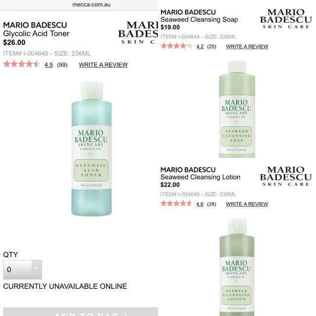 Mario Badescu Cleansers Toner Bundle Health Beauty