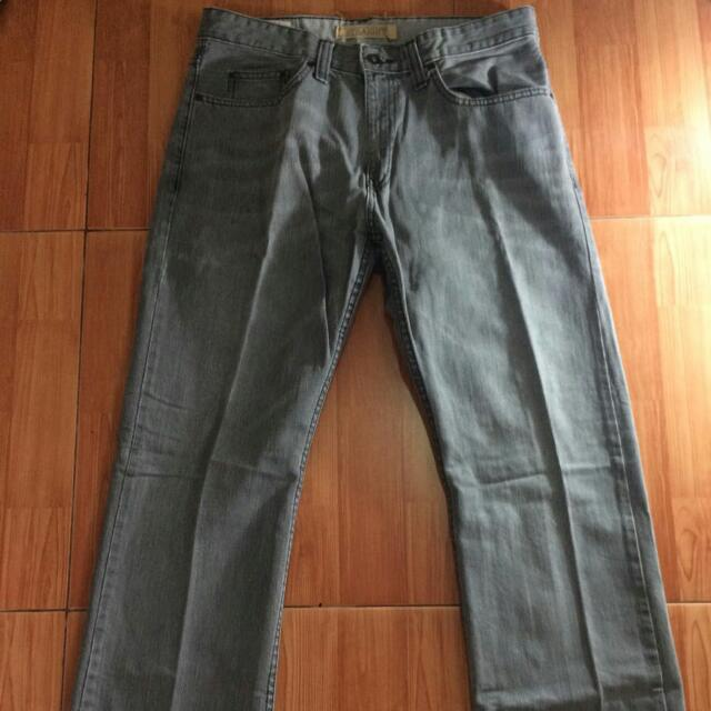 Mark N Spencer Authentic Straight Jeans, Grey, Size 32
