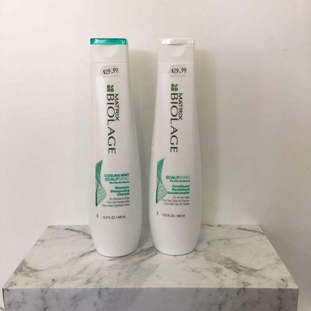 Matrix Biolage Scalpsync Shampoo And Conditioner