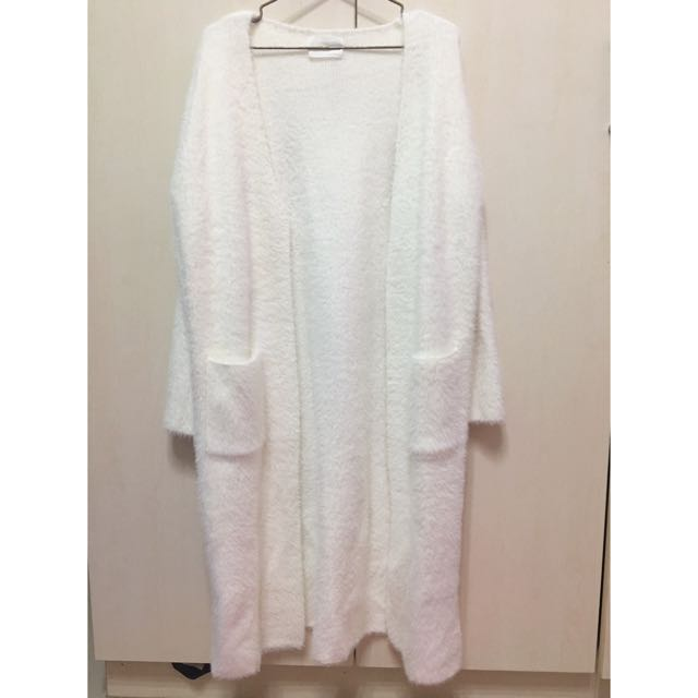 Meier Q 白色厚毛外套