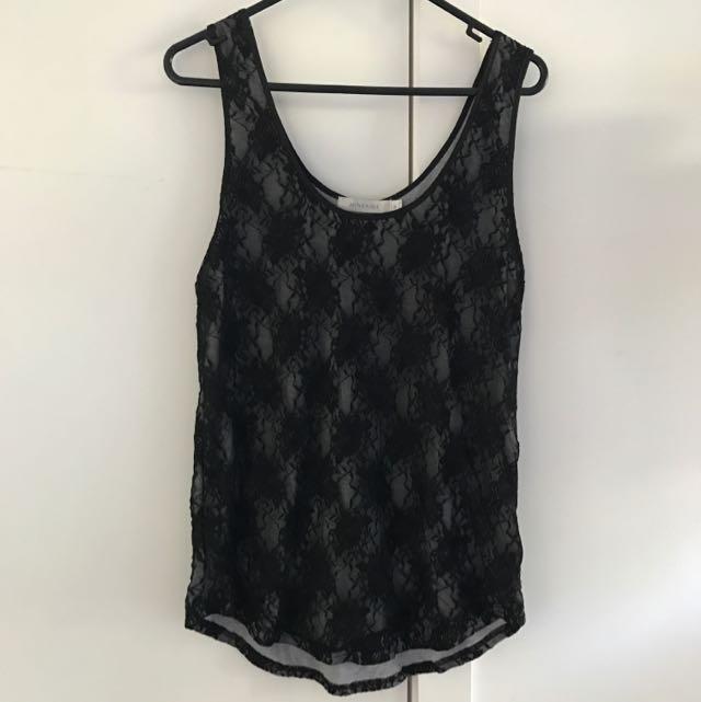 Minkpink Lace Black Top Size m