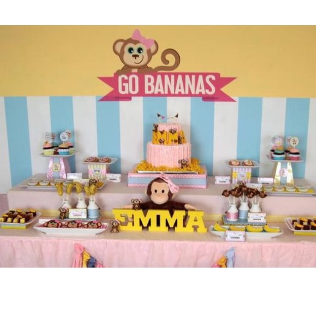 MONKEY ANIMAL SAFARI ZOO Themed Birthday Party Supplies Pls CHAT With Us For The Detailed Specific Product Listing Price