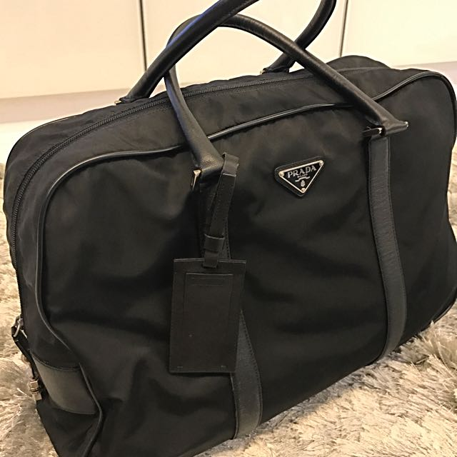3baed63465561a Prada nylon travel bag for men, Luxury, Bags & Wallets on Carousell
