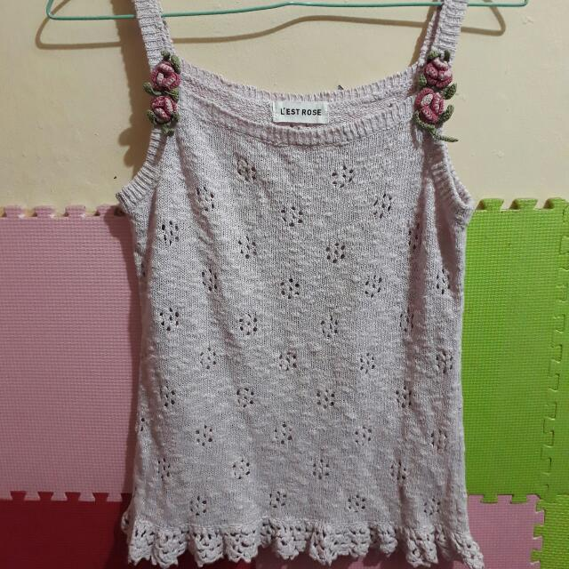 Preloved Tanktop L'est Rose