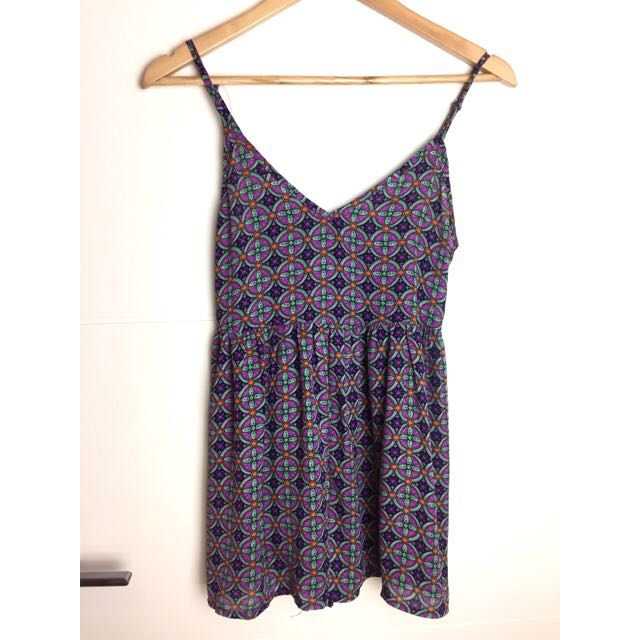 GEOMETRIC PRINT  PLAYSUIT SIZE 6/8