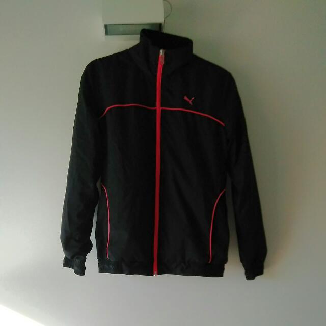Puma Black Sports Jacket Size L