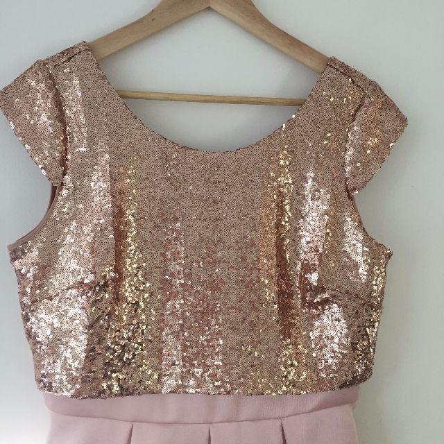 Review Rose Gold Sequin Dress - AU12