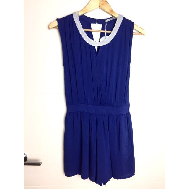 ROYAL BLUE PLAYSUIT SIZE 8