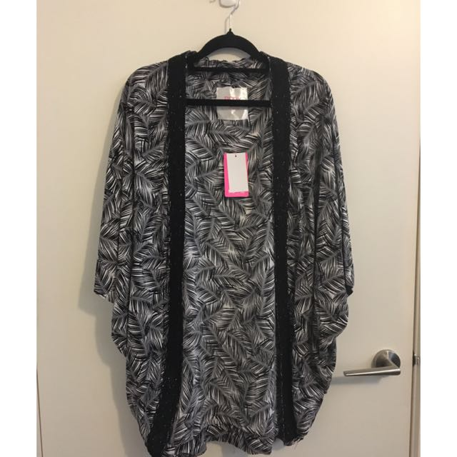 Silky Open Dressing Gown
