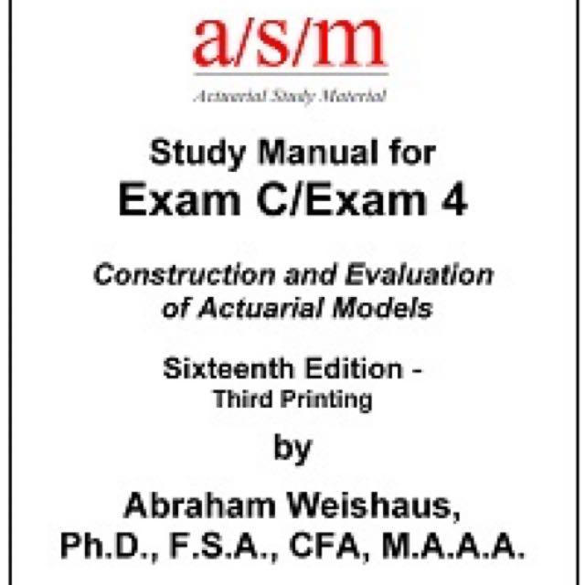 soa exam c asm manual books stationery textbooks on carousell rh sg carousell com Foot Exam FFIEC BSA AML Exam Manual