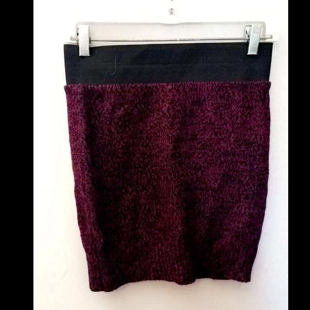 Suzy Shier Dark Purple Skirt