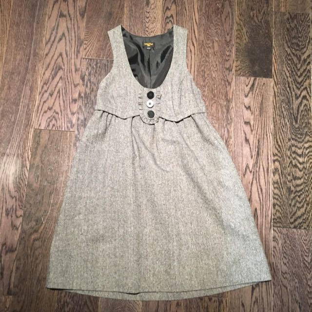 Talula Dress - Grey With Black Liner