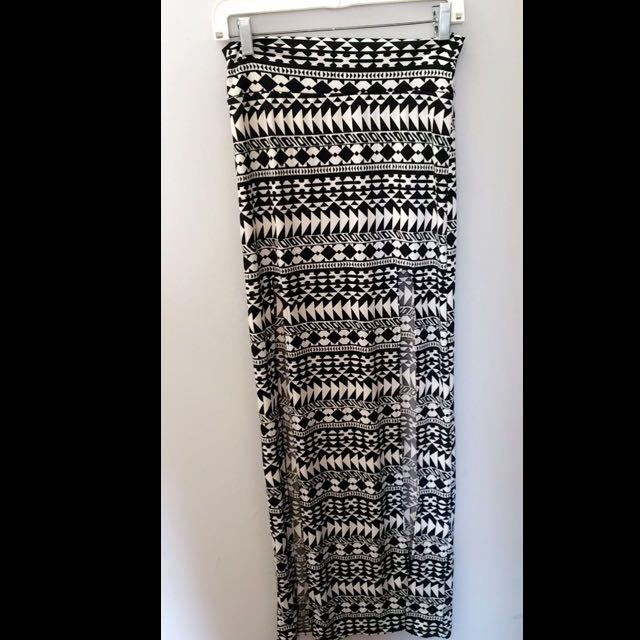 Tribal Skirt With Splits On Both SideS